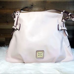 Dooney & Bourke Pale Pink Leather Shoulder Bag